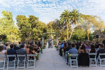 Wedding ceremony at Lagoon Overlook