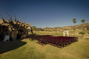 Ceremony set up at Kijamii Overlook